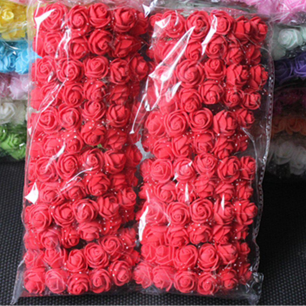 Trendy 144 PCS Artificial Foam Rose Multicolor PE Flowers Ornaments Valentine's Day present
