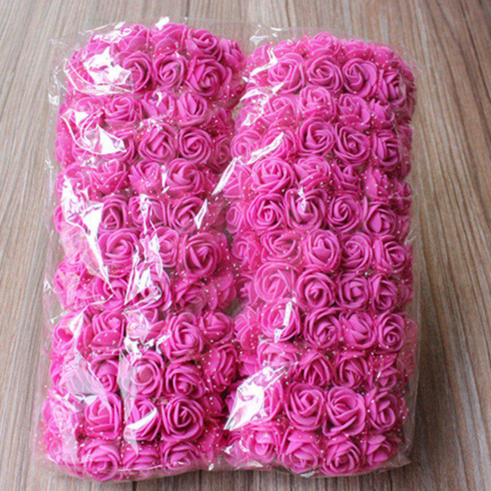 Online 144 PCS Artificial Foam Rose Multicolor PE Flowers Ornaments Valentine's Day present