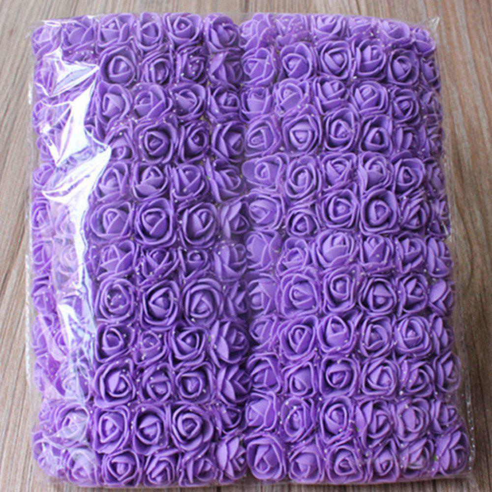 New 144 PCS Artificial Foam Rose Multicolor PE Flowers Ornaments Valentine's Day present