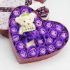Heart box Bear Rose Flower Soap  Bouquet  Valentines Gift -