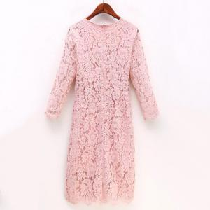 Women's Daily A Line Solid Round Neck Above Knee Short Sleeves Cotton Summer  Dress -