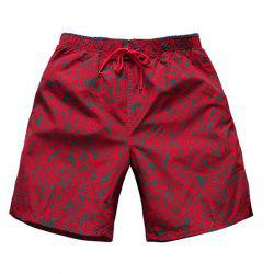 Men's Mid Rise Micro-elastic Active Simple Active Straight Camouflage Shorts Sweatpants Pants -