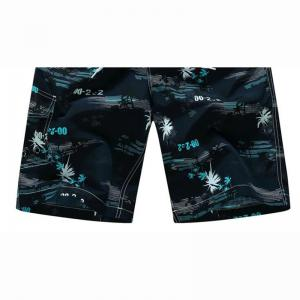 Men's Quick Drying Breathable Bottoms Prints Beach Swim Shorts Polyester Summer Green Blue Orange Pants -