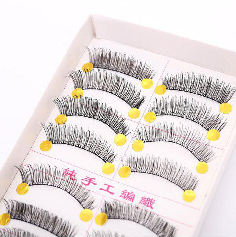 Outfit Handmade False Eyelashes Thick Eye Tail Elongated Makeup 10 Pairs