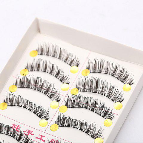 Hot Handmade False Eyelashes Thick Eye Tail Elongated Makeup 10 Pairs