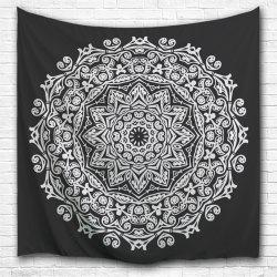 Black and White Mandala 3D Digital Printing Home Wall Hanging Nature Art Fabric Tapestry for Bedroom Living Decorations -