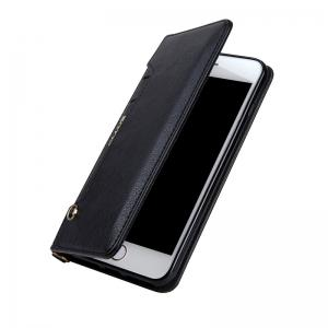 For iPhone 8 Plus Clamshell Rotating Card Purse Holster -