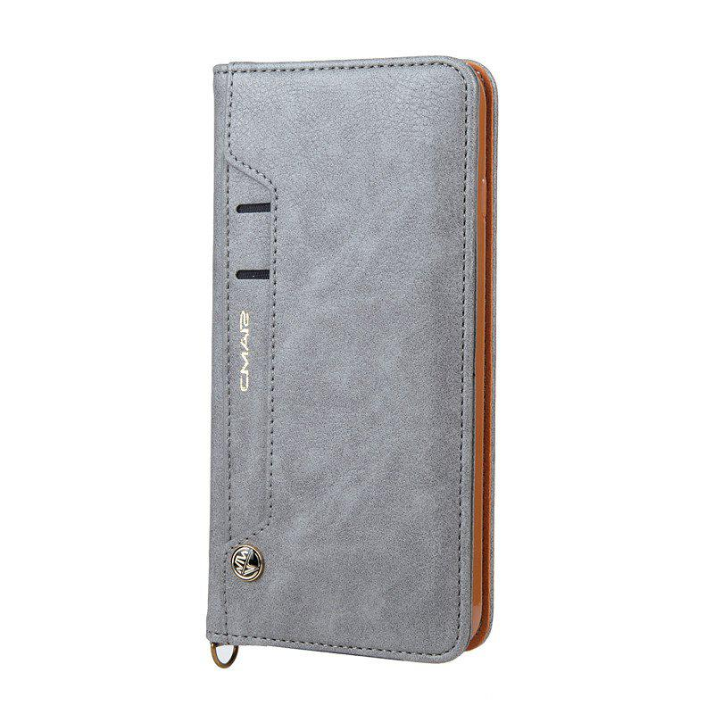 Trendy For iPhone 8 Plus Clamshell Rotating Card Purse Holster