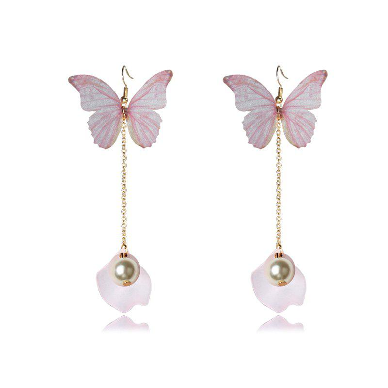 Fashion Pearls Charm Pendant Earrings Trendy Style Insect Butterfly Wing Romantic Style Women Tassels Warrings 250918801