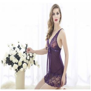 Sexy Deep V Lure Lace Hollowed-Out Suspender  Lingeries -