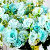 Artificial Flowers Vivid Pink Blue Rose Bouquet Home Decorative Display -