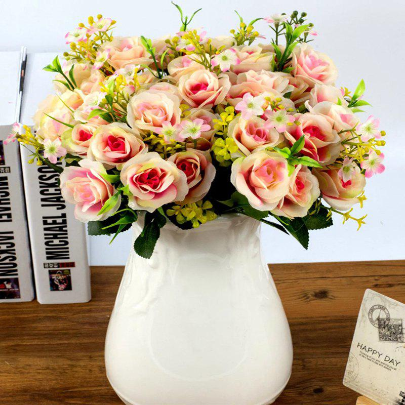 Buy Artificial Flowers Vivid  Rose Bouquet Home Decorative Display