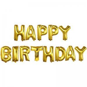 Gold Letter Banner and Champagne Balloon Set Birthday Party Decorations Party Supplies -