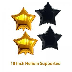 21ST Gold Number Balloon Foil Mylar Balloons Happy Birthday Banner for Bday Party Decorations -