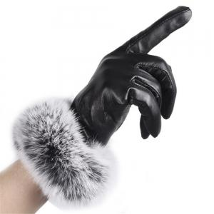 Winter Ladies Imitation Rabbit Fur Velvet Gloves -