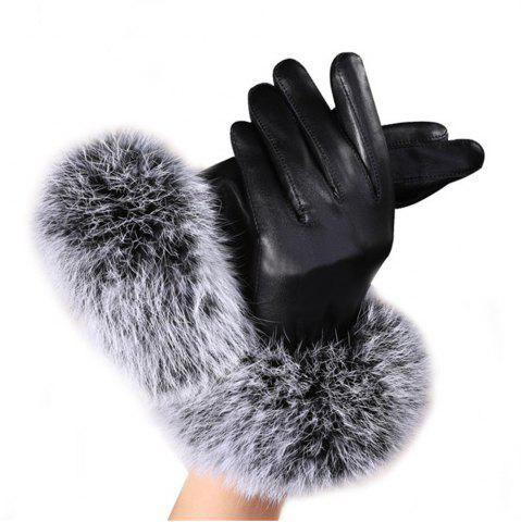 Latest Winter Ladies Imitation Rabbit Fur Velvet Gloves