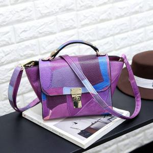 Fashion Women Handbags Solid Patchwork Tote Shoulder Crossbody Bags -