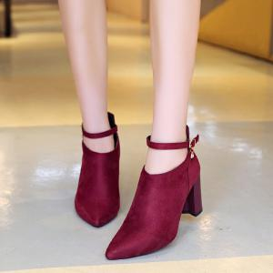 Thick Heels Fashion Buckle Boots -