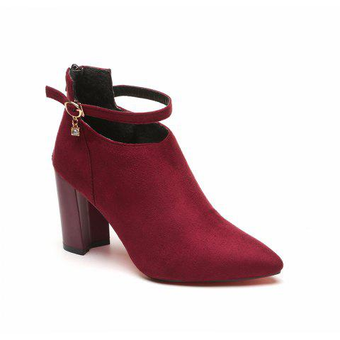Cheap Thick Heels Fashion Buckle Boots