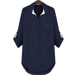 Plus Size Long Sleeved Medium and Long Style Shirt -