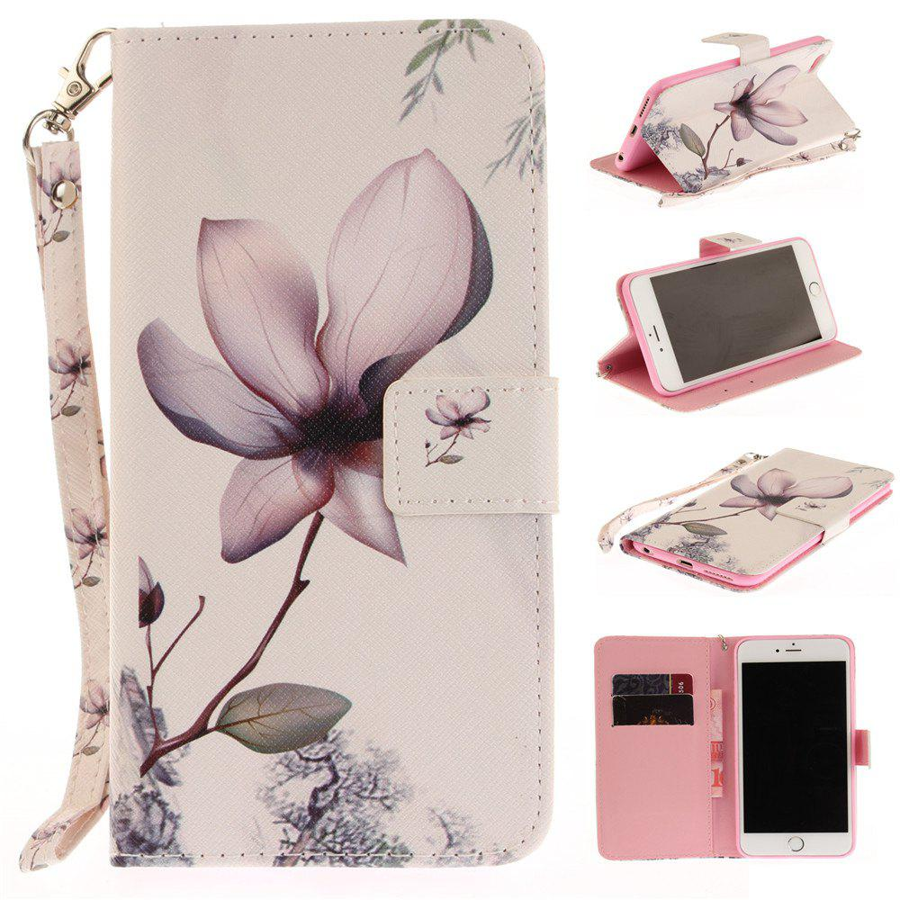 Buy Cover Case for iPhone 6 Plus 6S Plus Magnolia PU+TPU Leather with Stand and Card Slots Magnetic Closure