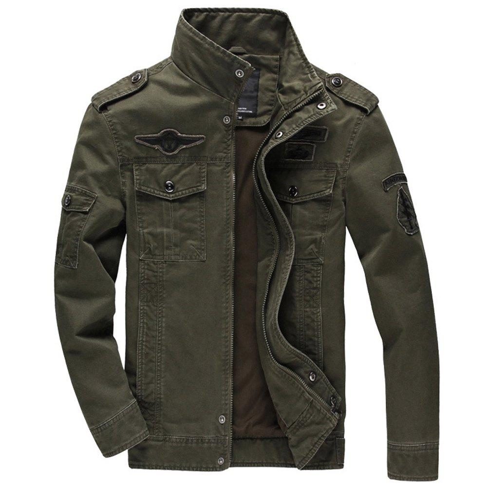 Online Men'S Cotton Coat Plus Size Military Style Tooling Jacket