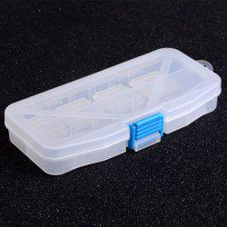 Multifunctional High Strength Plastic Tackle Multi-Compartments Transparent Fishing Box -