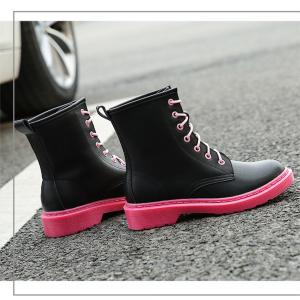 Contrast Color The Sole Martin Boots -