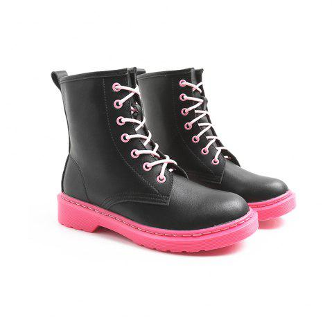 Cheap Contrast Color The Sole Martin Boots