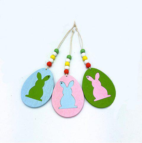 Hot DIY Colorful Halloween Rabbit Pendant with A Variety of 6PCS