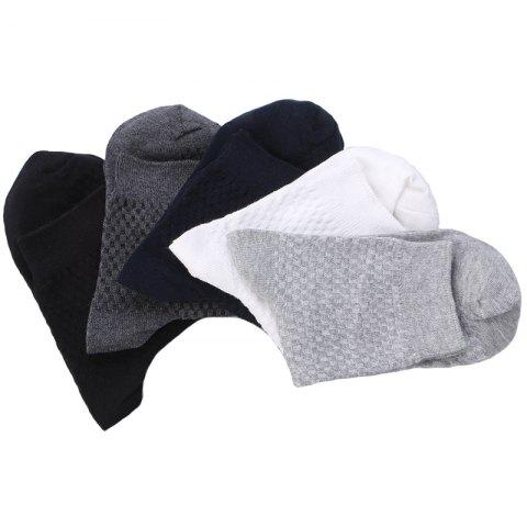 Online Pure Color Elastic Knitted Socks B1629 - 5 Pairs