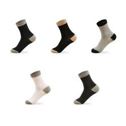 Spell Color Elastic Knitting Socks B2017130 - 5 Pairs -