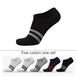 Two Stripes Graphic Elastic Knitting Socks 5 PCs -