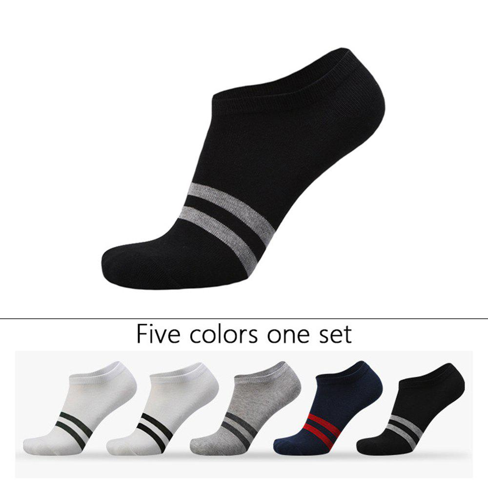 Outfit Two Stripes Graphic Elastic Knitting Socks 5 PCs