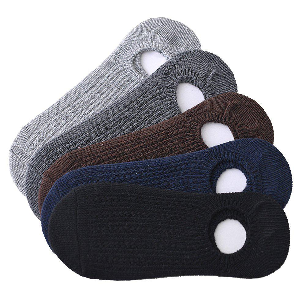 Outfits Pure Color Elastic Knitting Socks B201703 - 5 Pairs