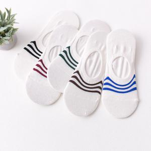 Pure Color Stripes Graphic Elastic Knitting Socks B2017101 - 5 Pairs -