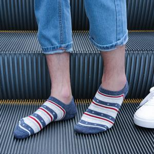 Stripe Graphic Elastic Knitting Socks B2017132 - 5 Pairs -