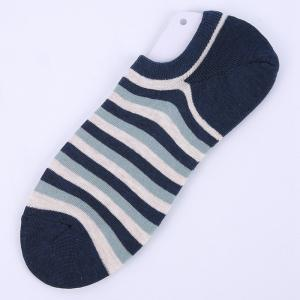 Stripe Graphic Elastic Knitting Socks B2017133 - 5 Pairs -