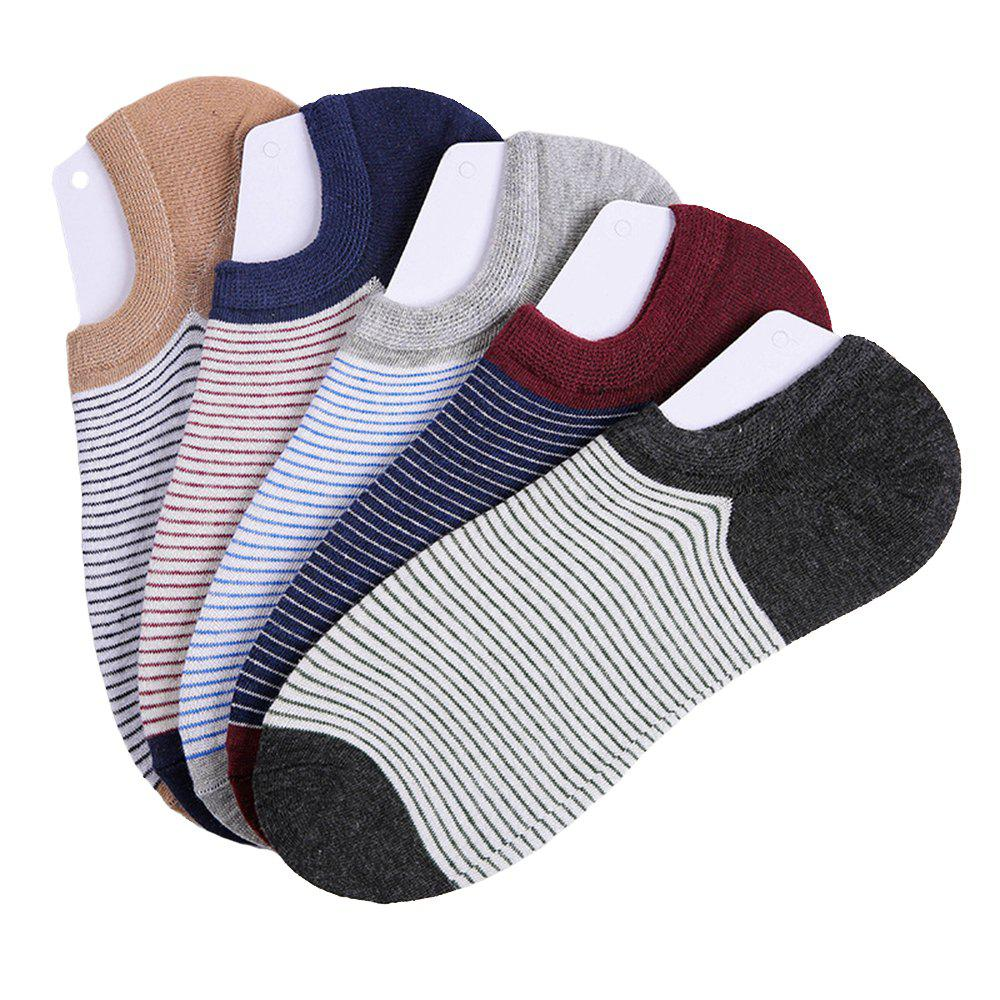 Buy Stripe Graphic Elastic Knitting Socks B2017137 - 5 Pairs