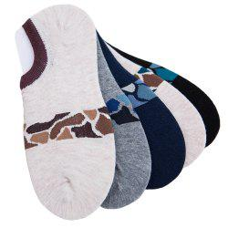 Stone Graphics Elastic Knitting Socks B2017144 - 5 Pairs -