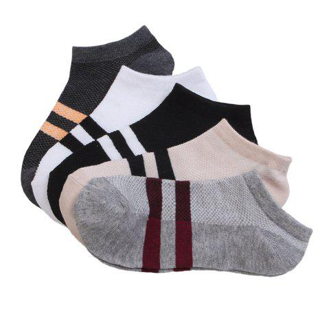 Affordable Stripe Graphic Elastic Knitting Socks B2017229 - 5 Pairs