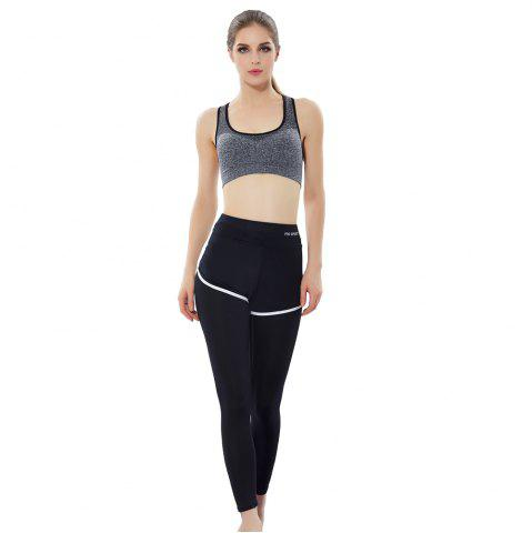 Discount Women'S Professional Running Fitness Yoga Pants No Steel Ring Vest Shockproof Sports Bra Suit