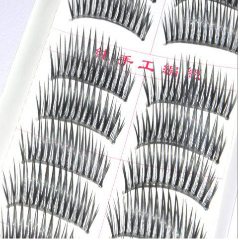 Outfit Fashion Transparent Stems False Eyelashes Hand Made 10 Pairs Pack