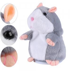 Cute Hamster Plush Toy with Sound Record Repeats What You Say for Kids Gift -