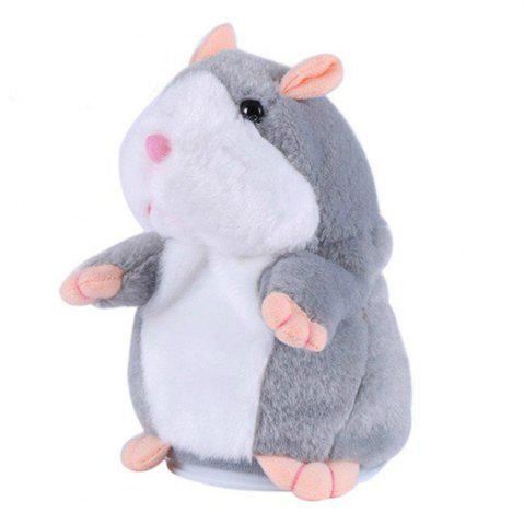 Store Cute Hamster Plush Toy with Sound Record Repeats What You Say for Kids Gift