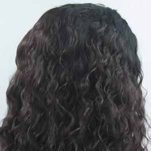 16 - 24 Inch Long Curly Wavy Style Dark Brown Black Root Heat Resistant Synthetic Hair Lace Front Wigs for Women -