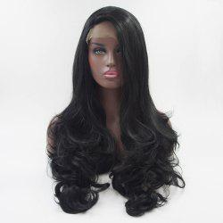 18 - 24 Inch Long Curly style Black Heat Resistant Synthetic Hair Lace Front Wigs for Women -
