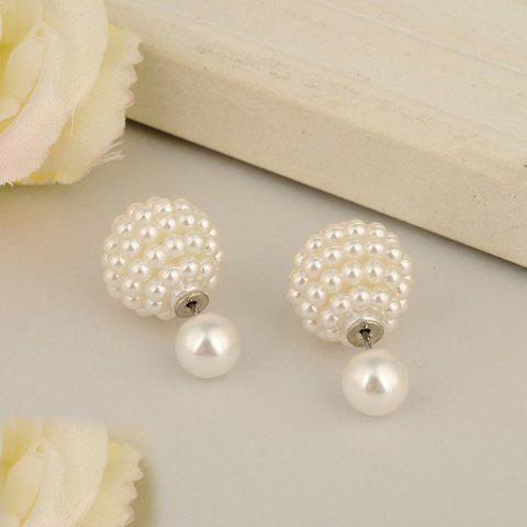 Outfits Fashion Jewelry Women Ball Earrings Double Pearl Stud Earrings For Women