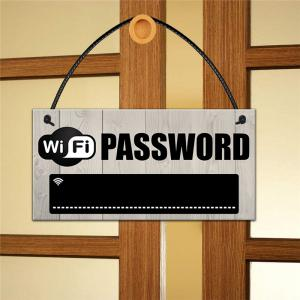 134071 Wood WiFi Password Shop Prompts The Creative Party To Decorate European Style (1pc) -