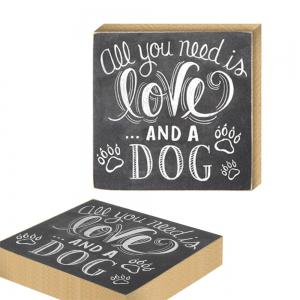 141002 Printing Plate Love Creative Dog Pet DIY Home Furnishing European Decorative Ornaments (1 Pack) -